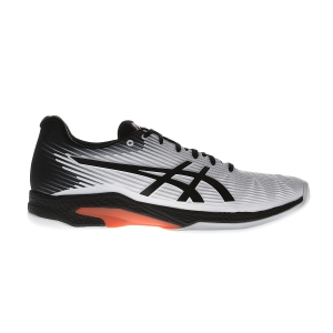 Calzado Tenis Hombre Asics Solution Speed FF Indoor  White/Black 1041A110102