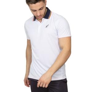 Polo Tennis Uomo Australian Ace Polo  White/Navy/Orange 78216020