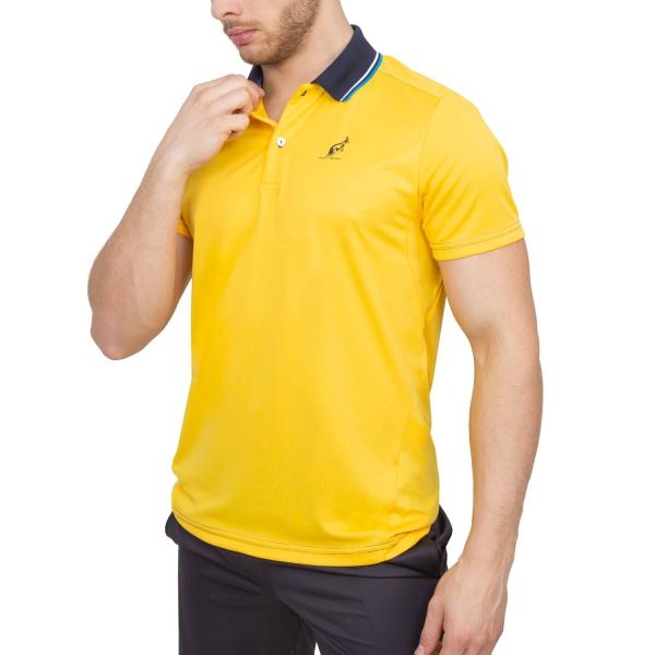 2ba244824696 Australian Ace Men s Tennis Polo - Yellow Navy