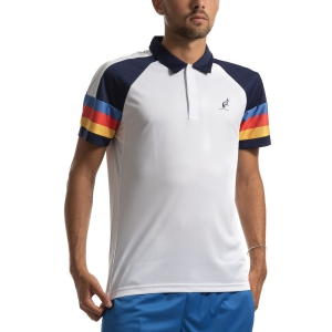 Polo Tennis Uomo Australian Ace Stripes Polo  Bianco/Blu I9078387002