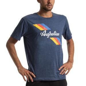 Camisetas de Tenis Hombre Australian Jersey Camiseta  Blu Melange I907850020M