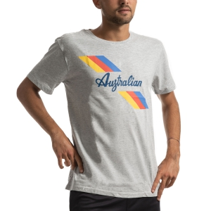 Maglietta Tennis Uomo Australian Jersey Maglietta  Grigio Melange I9078500101