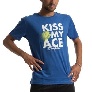 Camisetas de Tenis Hombre Australian Kiss My Ace Camiseta  Blu Italia I9078523ITA