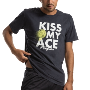 Camisetas de Tenis Hombre Australian Kiss My Ace Camiseta  Blu I9078523200
