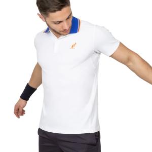 Polo Tennis Uomo Australian Performance Polo  White/Light Blue/Orange 78232021