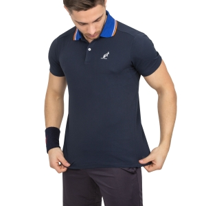 Polo Tennis Uomo Australian Performance Polo  Navy/Light Blue 78232203
