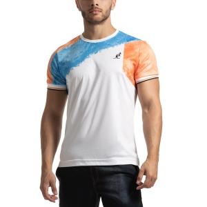 Men's Tennis Shirts Australian Retro Ace TShirt  Bianco/Azzurro/Arancio I9078517001