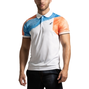Men's Tennis Polo Australian Retro Ace Polo  Bianco/Azzurro/Arancio I9078384001