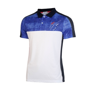 Men's Tennis Polo Australian Ace Jeans Polo  Blue/Black/White I8078230020