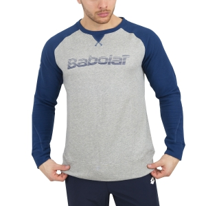 Maglie e Felpe Tennis Uomo Babolat Core Sweatshirt  Grey/Blue 3MS180423002