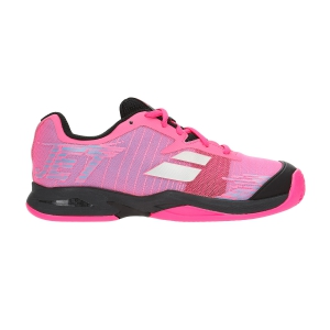 Junior Tennis Shoes Babolat Junior Jet Clay  Fluo Pink/Black 33S197305023