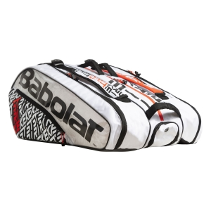 Tennis Bag Babolat Pure Strike x 12 Bag  White/Red 751201149