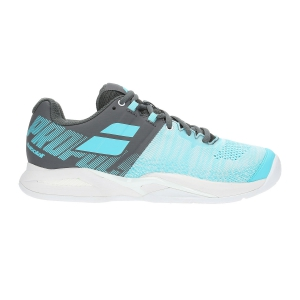 Women`s Tennis Shoes Babolat Propulse Blast Clay  Light Blue/Dark Grey 31S197513016
