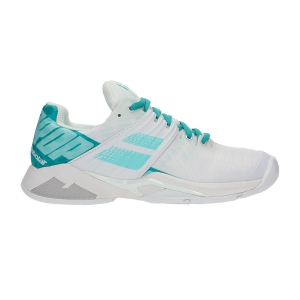 Women`s Tennis Shoes Babolat Propulse Fury All Court  White/Mint Green 31S194771027
