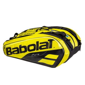 Tennis Bag Babolat Pure Aero x 12 Bag  Yellow/Black 751180191