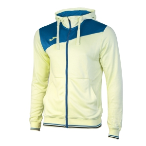 Giacche Tennis Girl Joma Girl Granada Full Zip Hoodie  Light Yellow/Blue 100776.907