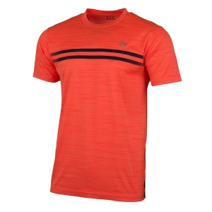 Men's Tennis Shirts Dunlop Performance Crew TShirt  Fluo Orange/Navy 71326
