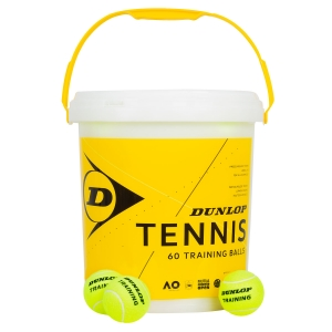 Dunlop Tennis Balls Dunlop Training  60 Ball Bucket 601341
