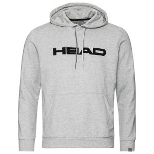 Men's Tennis Shirts and Hoodies Head Club Byron Hoodie  Grey/Black 811449GMBK