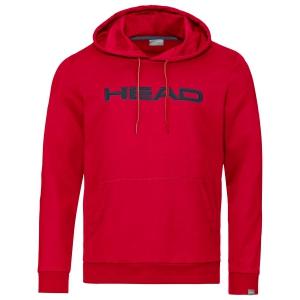 Men's Tennis Shirts and Hoodies Head Club Byron Hoodie  Red/Dark Blue 811449RDDB