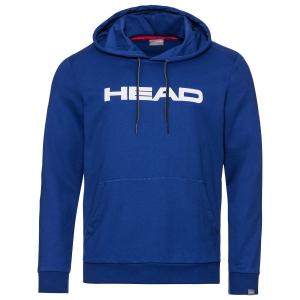 Men's Tennis Shirts and Hoodies Head Club Byron Hoodie  Royal/White 811449ROWH