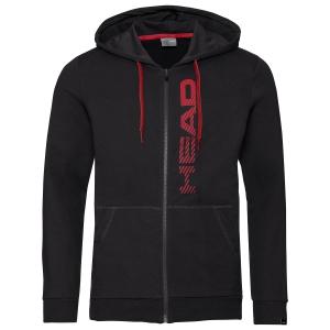 Men's Tennis Shirts and Hoodies Head Club Fynn Hoodie  Black/Red 811459BKRD
