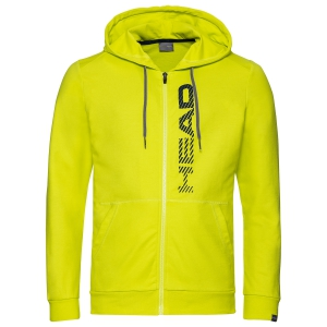 Men's Tennis Shirts and Hoodies Head Club Fynn Hoodie  Yellow/Dark Blue 811459YWDB