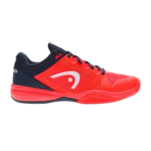 Calzado Tenis Niños Head Junior Revolt Pro 2.5 All Court  Fluo Red/Navy 275019 NRDB