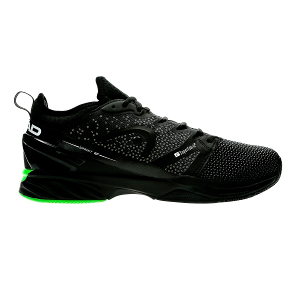Head Sprint SF Clay - Black/Green 273998 BKGR