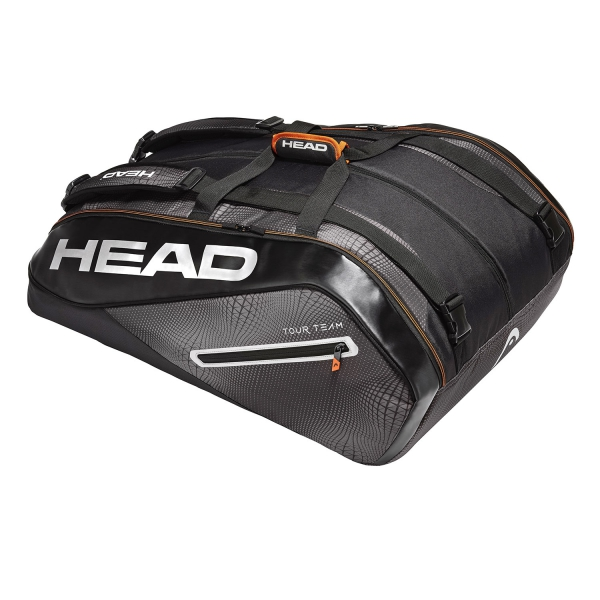 Head Tour Team x 15 Megacombi 2019 Bag - Black/Grey 283099 BKSI