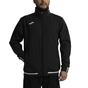 Men's Tennis Jackets Joma Campus II Soft Shell Jacket  Black/White 100532.100