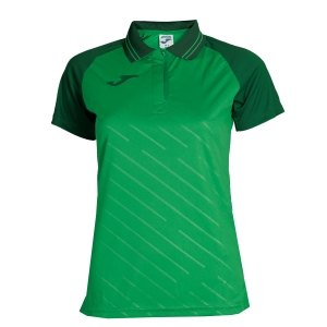 Women`s Tennis T-Shirts and Polos Joma Girl Torneo II Polo  Green/Dark Green 900454.450