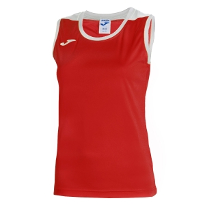 Top and Shirts Girl Joma Girl Spike Tank  Red/White 900239.602