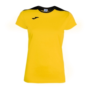 Top and Shirts Girl Joma Girl Spike TShirt  Yellow/Black 900240.901