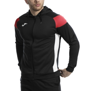 Men's Tennis Jackets Joma Poly Crew III Jacket  Black/Red/White 101271.106