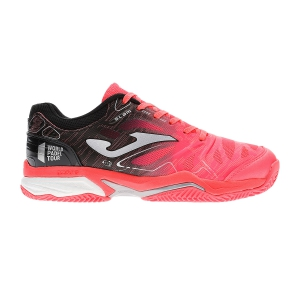 Padel Shoes Joma Slam Lady Clay  Coral/Black T.SLALW907
