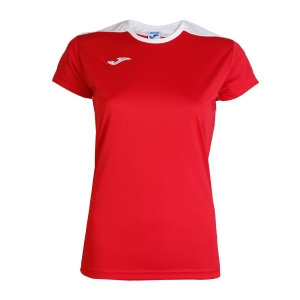 Women`s Tennis T-Shirts and Polos Joma Spike TShirt  Red/White 900240.602