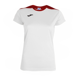 Top and Shirts Girl Joma Spike TShirt  White/Red 900240.206