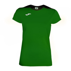 Women`s Tennis T-Shirts and Polos Joma Spike TShirt  Green/Black 900240.451