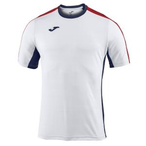 Tennis Polo and Shirts Joma Boy Granada TShirt  White/Navy/Red 100775.203
