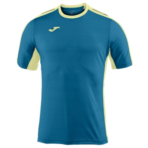 Tennis Polo and Shirts Joma Boy Granada TShirt  Petrol/Light Yellow 100775.907