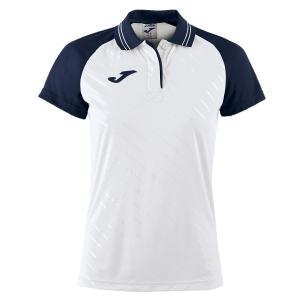 Top and Shirts Girl Joma Girl Torneo II Polo  White/Navy 900454.203