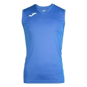 Maglietta Tennis Uomo Joma Combi Singlet  Blue/White 100436.700