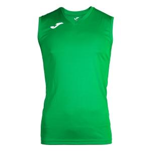 Maglietta Tennis Uomo Joma Combi Singlet  Green/White 100436.450