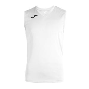 Maglietta Tennis Uomo Joma Combi Singlet  White/Black 100436.200
