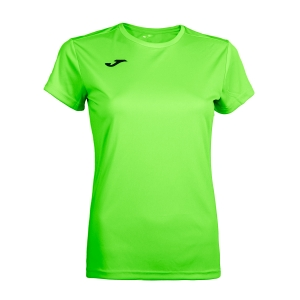 Women`s Tennis T-Shirts and Polos Joma Combi TShirt  Fluo Green/Black 900248.020