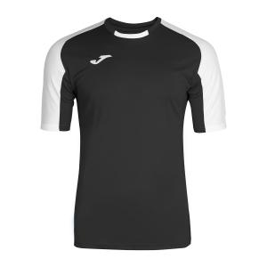 Tennis Polo and Shirts Joma Boy Essential TShirt  Black/White 101105.102