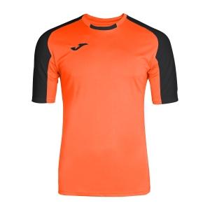 Tennis Polo and Shirts Joma Boy Essential TShirt  Fluo Orange/Black 101105.801