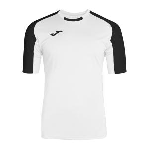 Tennis Polo and Shirts Joma Boy Essential TShirt  White/Black 101105.201