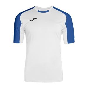 Tennis Polo and Shirts Joma Boy Essential TShirt  White/Blue 101105.207
